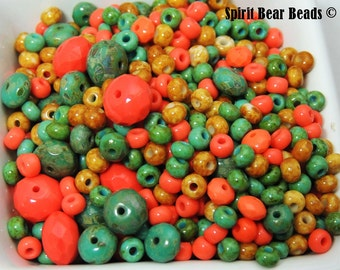 Deluxe Colors of the Southwest Picasso CZECH GLASS Mix  Beads 35 grams
