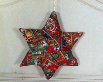 Christmas fabric, double star fleece