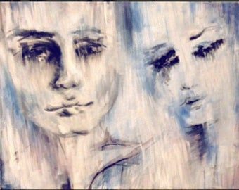 Couple - 16 by 20 inch on canvas (1/2 inch thick)