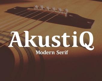 Modern Serif Font - Akustiq