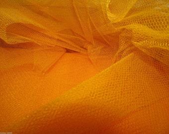 Tulle Netting Dress Fabric 140cm Wide 30 Colour Range -  Mustard Gold