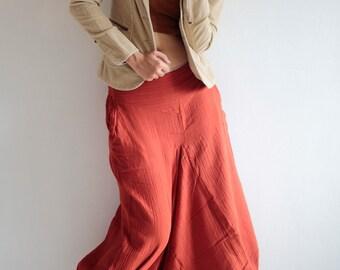 Hippie pants  / harem pants /Linen/cotton In all colour and all size M,L,XL  P1417