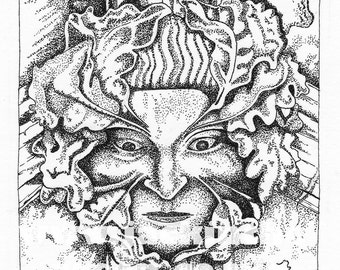 Norwich Cathedral Green Man (No.2) Greetings Card