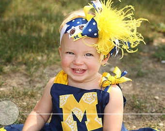 NEW over the top CUSTOM SPORT hair bow in your favorite team colors