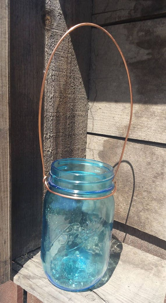 Set of 4 Copper Wire Hangers for Mason Jars Wide Mouth or