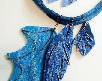Digital Template - Pattern for the Felted Leaves for I Just Felt Like Leafing Necklace