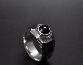 """Sterling Silver Contemporary Ring """"Lapidibus"""" 