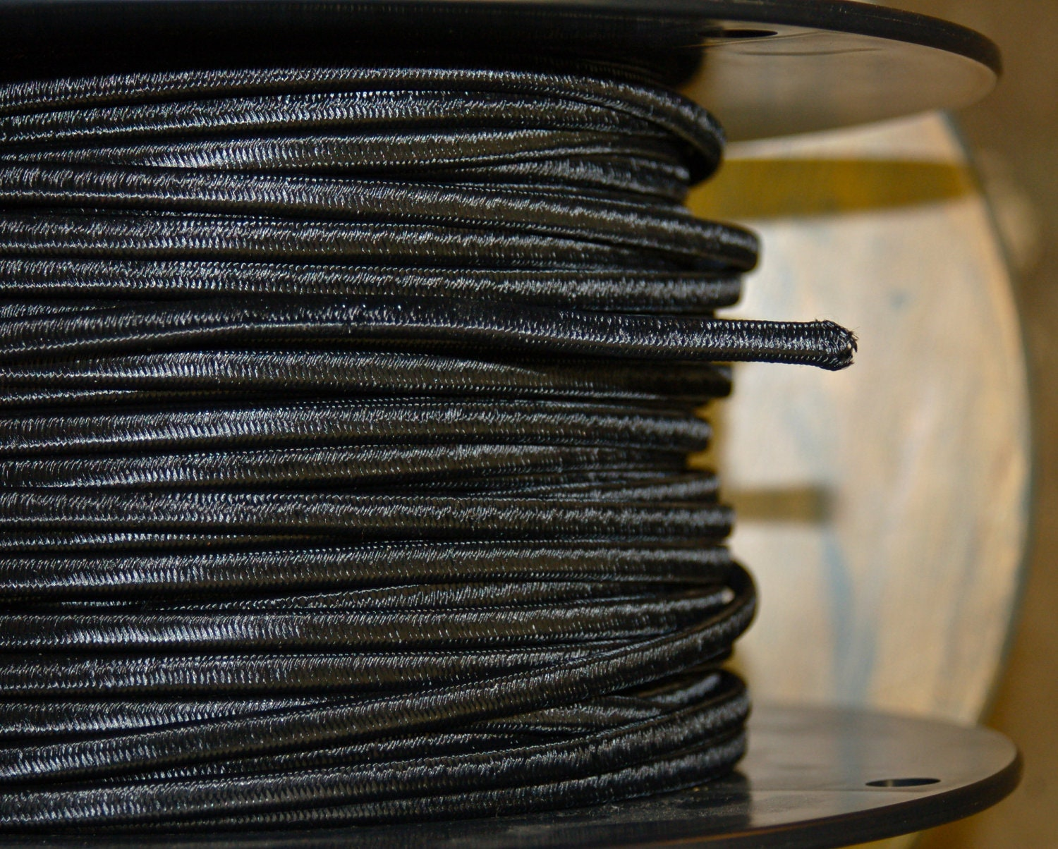 6 Feet: Black Rayon 2-Wire Cloth Covered Cord, Vintage Style Cloth ...