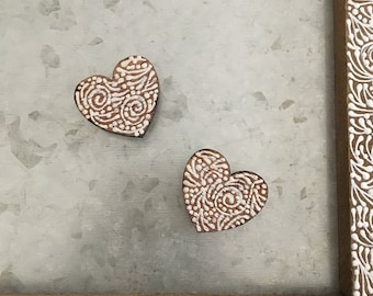 Pair of Mini Heart Magnets