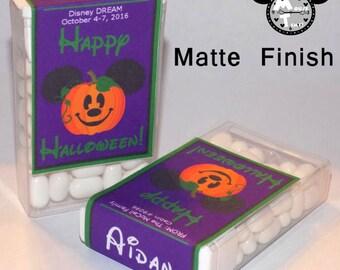 LABELS - Halloween Jack O' Lantern Fish Extender Candy Labels - MouseTime!