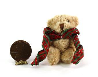 Artisan Soft & Fuzzy Teddy Bear with Christmas Bow
