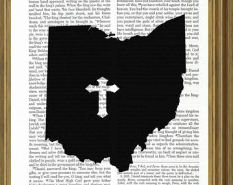 Ohio silhouette on Bible page