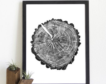 Giclee stump print: Spring Hollow