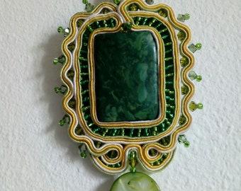 Necklace with Soutache Pendant