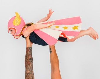Super Hero Costume Pink, Girl Power, Strong Girl Costume, Wonder Woman, Powerful Girl, Cool Kid, Toddler Gift, Kids Gift, Kids Costume Play