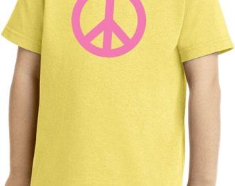 Toddler's Peace Shirt Pink Peace Tee T-Shirt PINKPEACE-CAR54T