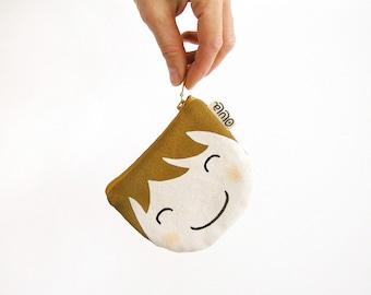 Gift for kids, Womens wallet, Coin wallet for women, Brunette and blonde, Change wallets for women, Cute wallet for women