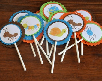 Bug Cupcake Toppers. Insect Cupcake Toppers. Cupcake Picks. Set of 12. Choose boy or girl