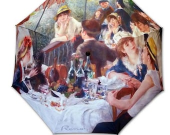 Foldable umbrella - Painter RENOIR: rowers lunch