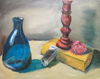Vase and paint