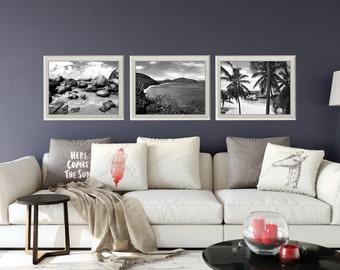 Amazing Beach Print Set Living Room Wall Art BVI Tropical Prints Beach House  Cottage Aqua Decor Beach