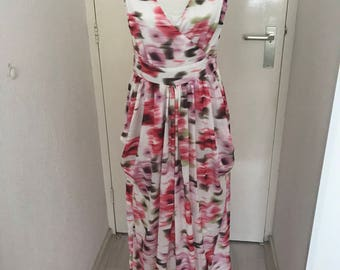 long summer maxi dress prom party with pockets flower floral bridesmaid