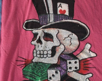 Bag purse shopping bag book bag lunch sack recycled t shirts Ed Hardy Skull Fight Club
