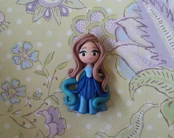 Dancing Blue Girl Pendant Or Ornament
