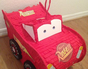 Cars birthday piñata.  Party Decorations and Supplies