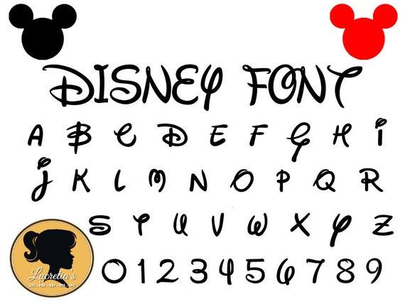 Disney Schriftart Svg sofort-Download Disney Cut Datei