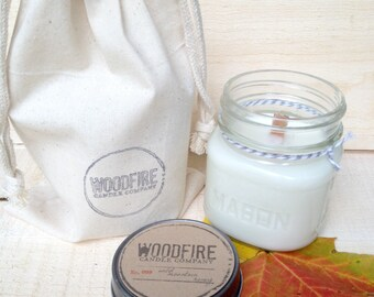 LILAC  // Wood Wick // Mason Jar // Soy Candle // 8oz // Perfect Gift