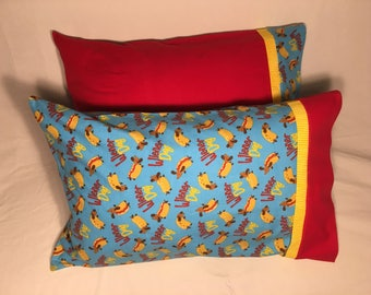 Wiener Dog Flannel Pillowcases - 2 styles