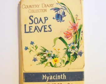 Vintage 1980s Hyacinth by Country Diary Collection (Village Bath) 0.07 oz Scented Soap Leaves in Packet