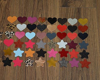 Lot of Stars and Leather Hearts
