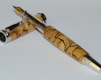 Wood Pen - Spalted Maple Fountain Pen