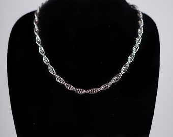 Stainless Steel Helix Necklace