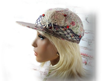 baseball hat, fashion cap, women's baseball hat,steam punk cap, decorated cap,  # 3
