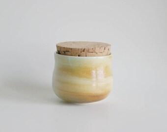 Lidded Jar Kitchen Handmade Jar Rustic Jar Porcelain Jar Ceramic Jar Salt Jar Pottery Jar Home Decor Storage Jar