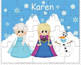 Princess Frozen Personalized Puzzle, Personalized Princess Puzzle, Personalized Kids Puzzle