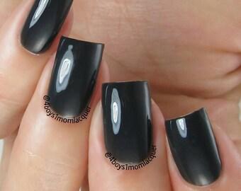Carbon Copy - Off Black Creme Nail Polish