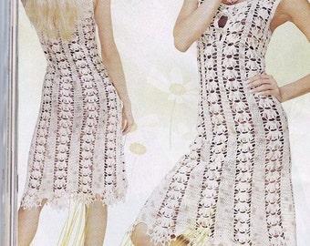 Beautiful white dress crochet / custom