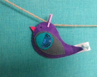 Beautiful Bird Garland/banner/wall hanging with sequin detail
