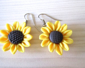 Sunflower earring, sunflower, sunflower jewelry, bridesmaid gift, bridal jewelry,flower girl gift, wedding jewelry for bride