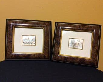 Pair of Art Made in Italy Sterling Silver Pictures Frame by Argenti