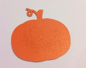 Halloween Tags - Set of 9 - Scary Pumpkin