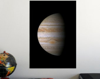 "Jupiter Portrait by Cassini 19"" x 13"" Poster - Science Astronomy Wall Art - Window on the Universe series"