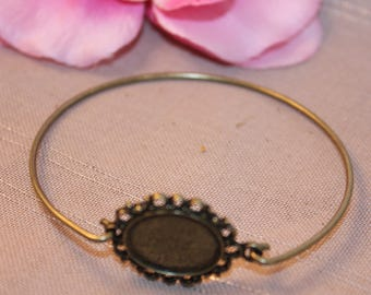 1 x medium bracelet bronze cabochon 18x13mm - SC18824