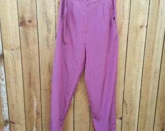 Purple High Waist Trousers