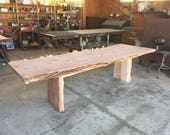 Large Burled Table, No Fi...