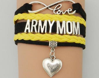 Army Mom Adjustable Wrap Bracelet